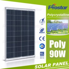 high efficiency A grade 90W Poly solar cell panel