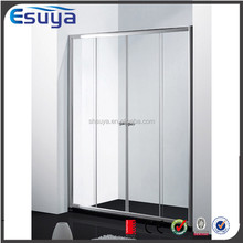 Shanghai Esuya supplier cheaper hotel bathroom tempered glass shower partitions