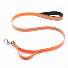 Double Soft Handle Reflective Plastic Dog Training Leash