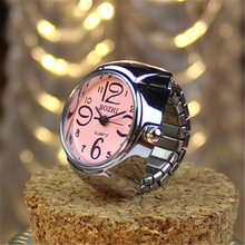 2017 new fashion top selling rings watch quartz japan movt digital finger ring watch for couple