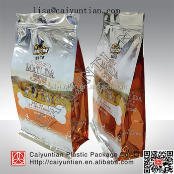 Custom Printed pet food pouch, Pet Food Packaging Bag with Zipper, pet food bag
