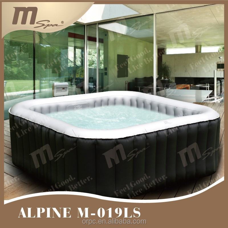 Portable gonflable piscine spa carr bain remous for Piscine transportable