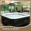 Portable inflatable spa pool / square hot tub / bubble spa 6 person Alpine M-019LS