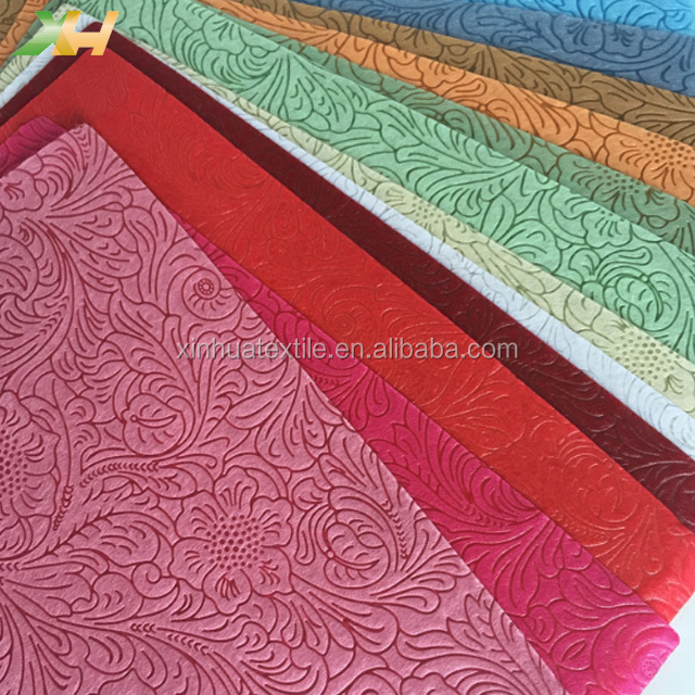 Newest Colorful Leather Embossed 100% Polypropylene PP Spunbond Non-woven Fabrc for Making Non Woven Bag