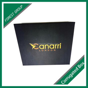 Custom full colors rigid gift box for watch with hot stamping and matte lamination