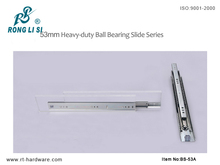 53mm ball bearing drawer slide heavy duty telescopic slides
