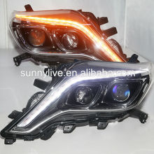 2014-2015 year TOYOTA Prado FJ150 Land Cruiser LED strip Head Lamps LED Two Color TLZ