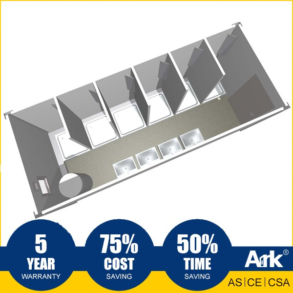 Ark Top Quality Good Price Long Lifespan Flatpack Prefabricated Steel Shower