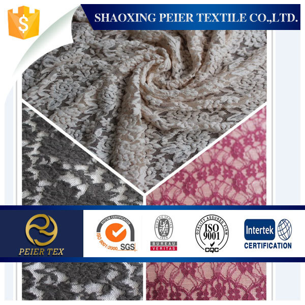 Polyester/Cotton Lace fabric for ladies wedding dress & children dress