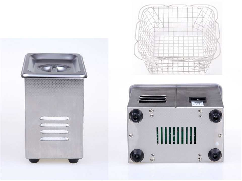 Mini ultrasonic cleaning equipment 0.6l PS-06A stainless steel dentures cleaner CE RoHS FCC