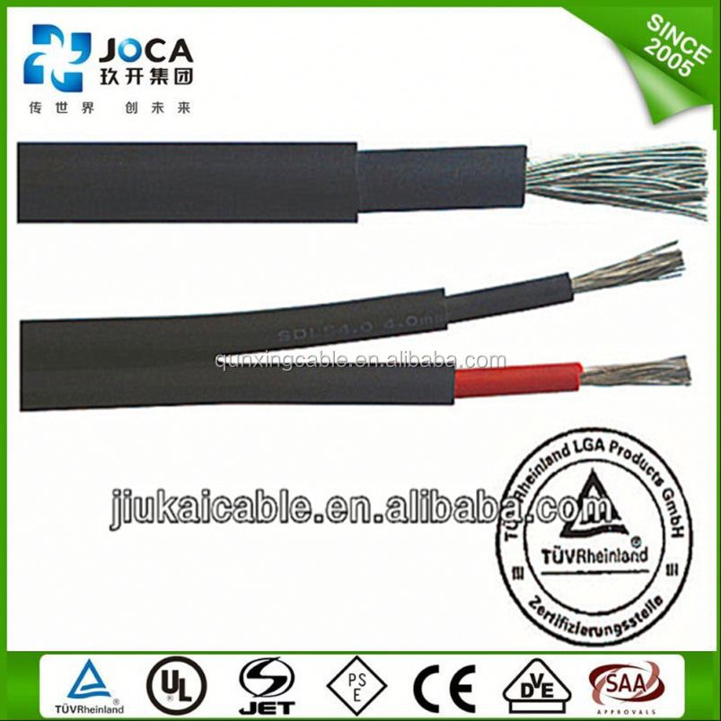Australian Standard TUV Approved XLPE Insulation Material 4mm2 Solar PPV Connector Cable for Photovoltaic Systems
