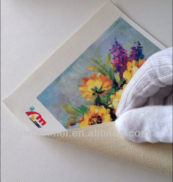 Waterproof Pure Cotton Digital Printing Canvas For Photo Inkjet