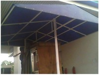 Fiberglass canopy for CNG dispenser