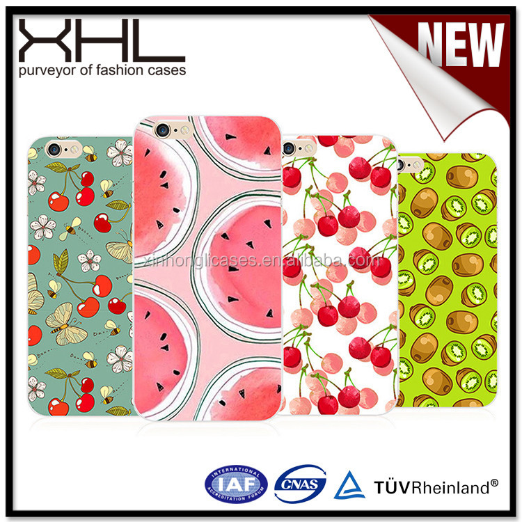 Thin tpu hand-painted fruit phone shellfor iphone 6 cheap tpu case