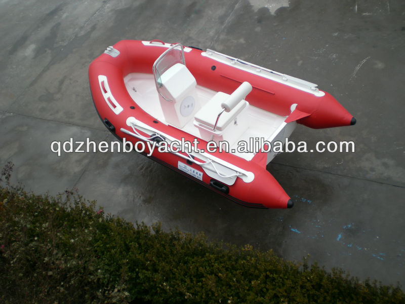 RIB inflatable boat with console
