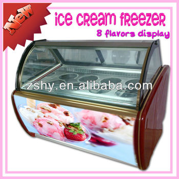 Ice Cream Showcase Freezer for Ice Cream selling
