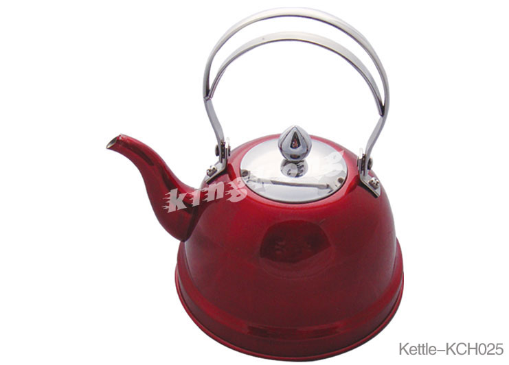 Staianless Steel Tea Kettle Pot With Panting Color On Body And Whiste