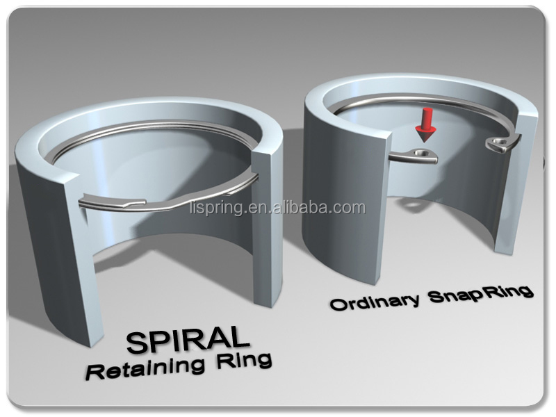 Easy To Install Spiral Internal Retaining Rings