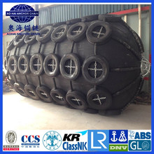 Dia 2500 x L 4000 mm 50Kpa 80Kpa Pneumatic Rubber Marine Yokohama Fender with BV LR