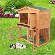 Factory direct sell cheap price 2 Story Wooden Rabbit Hutch