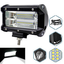 Truck offroad car roof top led driving light bar Led work light 72w led light bar mini