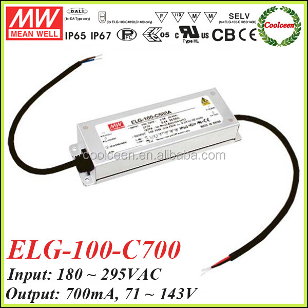 Meanwell ELG-100-C700 700ma constant current dimmable led driver