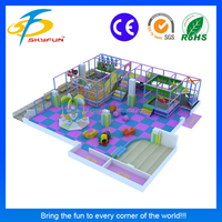 Customize design soft indoor children game play park