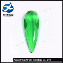 11x33mm Crystal glass made in china wholesale charm crystal stone china manufacturer green pear glass gemstone prices