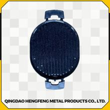 Porcelain coated firm cast iron gas cookware