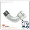 bake galvanized malleable iron pipe fittings male and female 90 degree bend