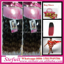 Stefull hair good quality no tangle japanese fiber double sided tape synthetic hair extension
