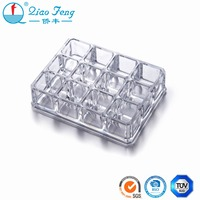 Translucent mini nail polish display floor stand case