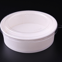 top quality disposable paper salad bowl with clear lids