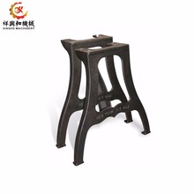Outdoor furniture cast iron bench legs metal ductile iron cast table legs metal table legs