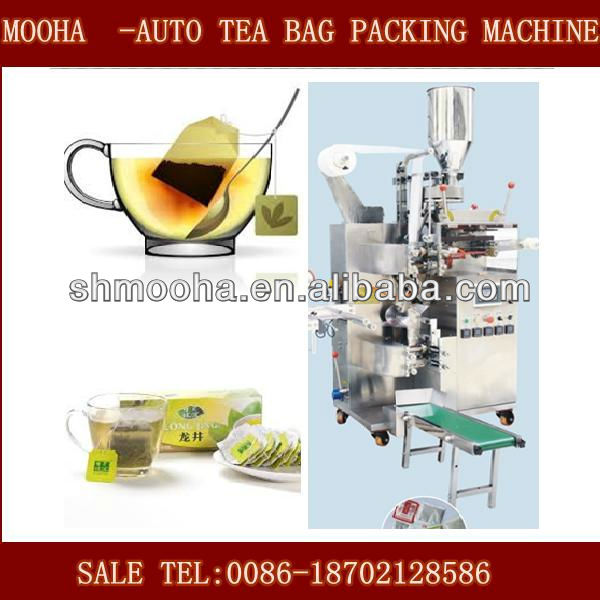 double chamber teabag packaging machine/small bag/ outer and inner/tag