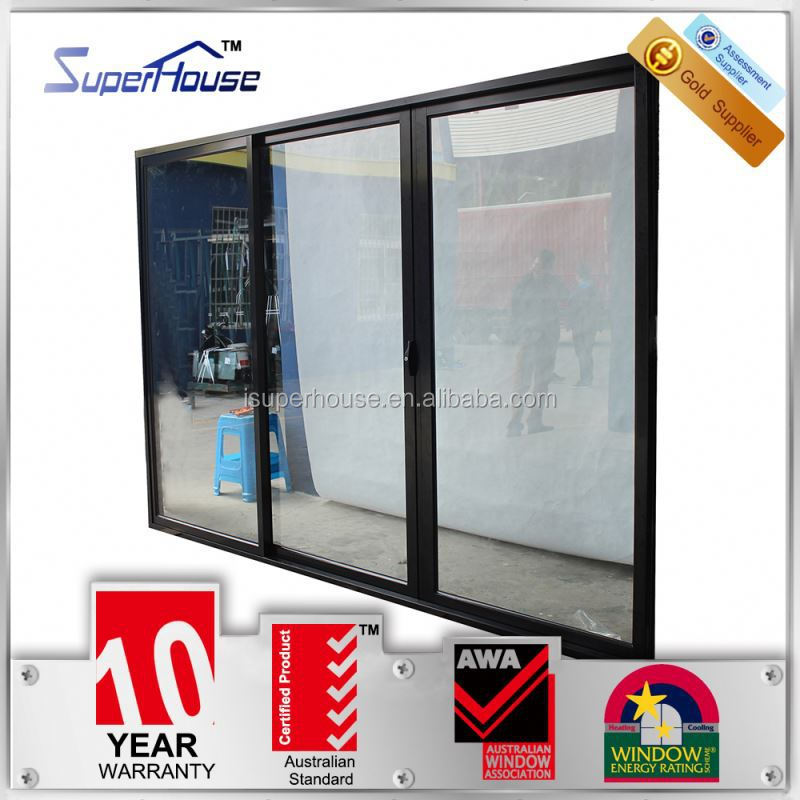 Australian standards AS2047 AS2208 AS1288 commercial double glass partition wall sliding door
