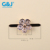 Renqing gold color zircon stone bow sandal buckles