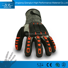 Waterproof finger knuckle mechanic gloves coated nitrile with TPR
