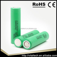 High power Samsung inr18650-25r 3.6v 2500mah li-lon battery for e-cig