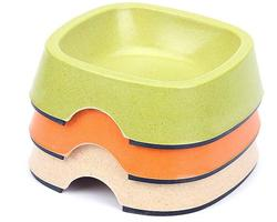 safety bamboo fiber pet bowl dog bowl for wholesale