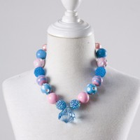 Colorful Beads Chunky Bubblegum Necklace Accessories