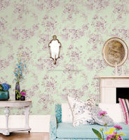 beautiful floral design self adhesive Italian vinyl wallpaper