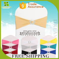 Free Shipping Wedding Spandex Chair Sash /elastic chair bands with Buckle