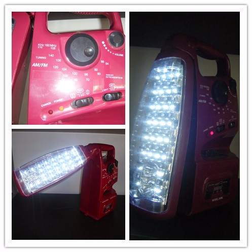High quality led multifunction rechargeable emergency lamp