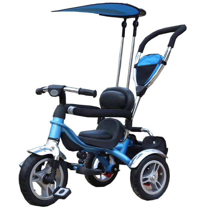 multifunction child tricycle foldable with flat canopy,rotation seat
