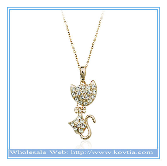 2014 new fashion friends gift animal shaped necklace hot sale hong kong jewelry wholesale
