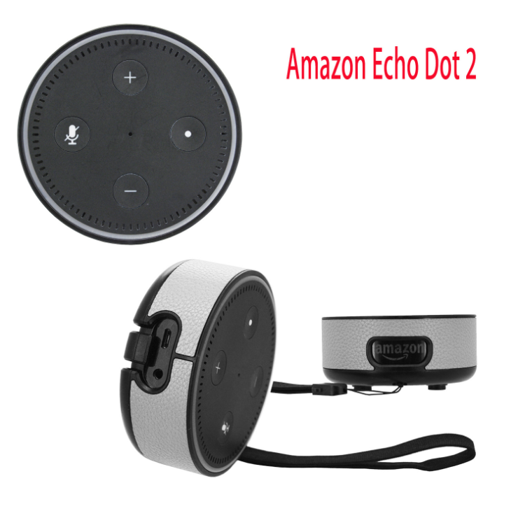 Protective PU Leather Case Cover for Amazon Echo Dot 2 cases