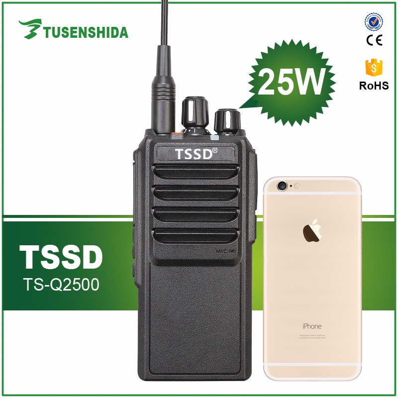 Best long range woki toki 25watts with 4000mAh big power battery TSSD TS-Q2500 handy walkie talkie 25km