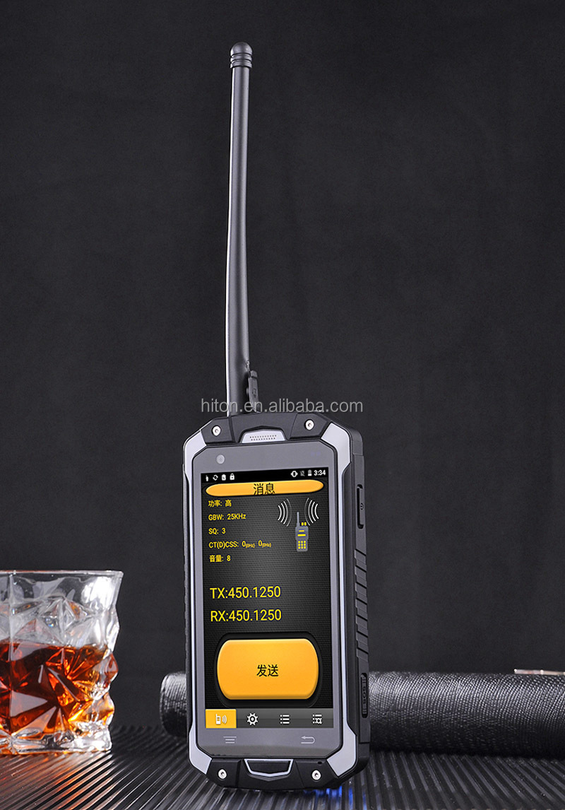 Highton 4.5inch 4G Waikie-Talkie PTT SOS NFC rugged phone mobile smarphone with GPS Glonass NFC