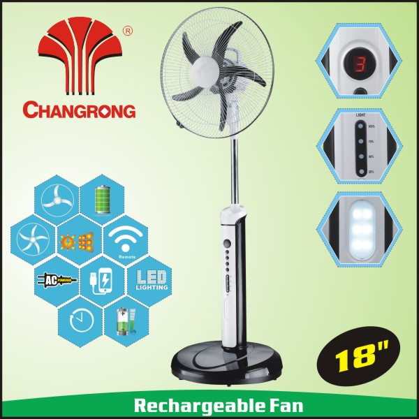 2016 new 18inch usha rechargeable fan with timer function light abttery